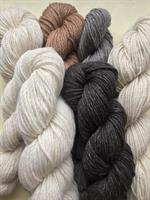Gorgeous natural alpaca yarn from our alpacas
