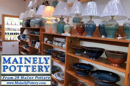 We offer a wide variety of Lamps and useful pottery