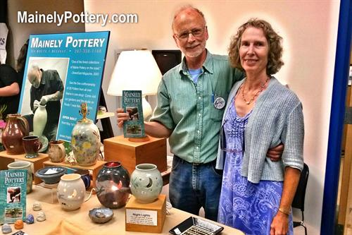 Mainely Pottery was started in 1988 by Jamie Oates, resident potter, and Jeannette Faunce, gallery manager and gardener.