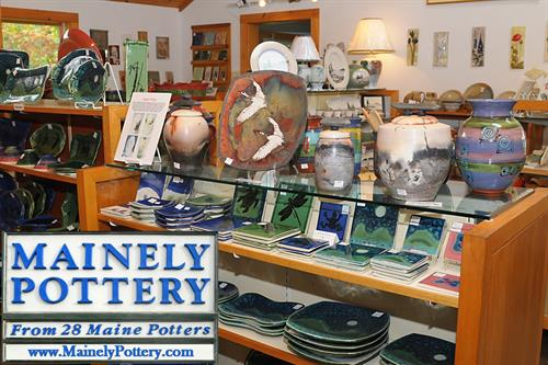 We offer pottery in many shapes, colors, and function