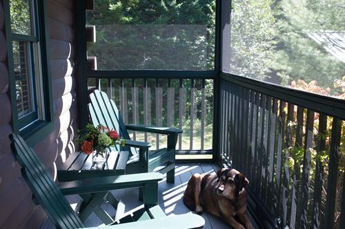 cabin porches, pet friendly (extra fee)