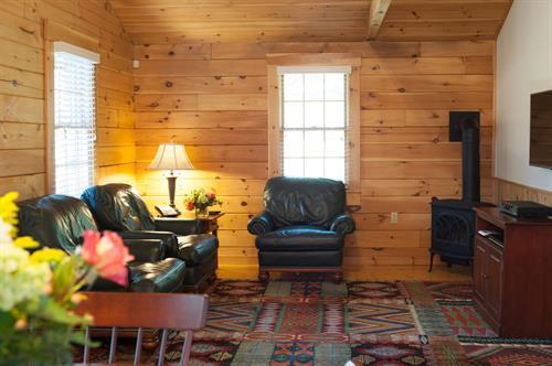 sample of interior of cabins (2-Bedroom/2-Bath living room)