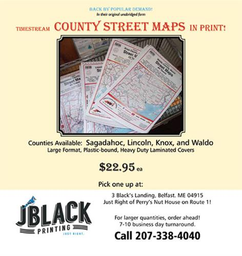 County/Town Map Books for Waldo, Knox, Lincoln and Sagadahoc!