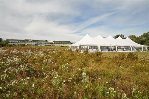A Wedding Tent on our Grand Lawn
