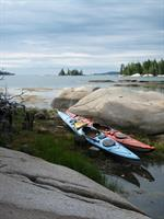 Sea kayaking downeast Maine.