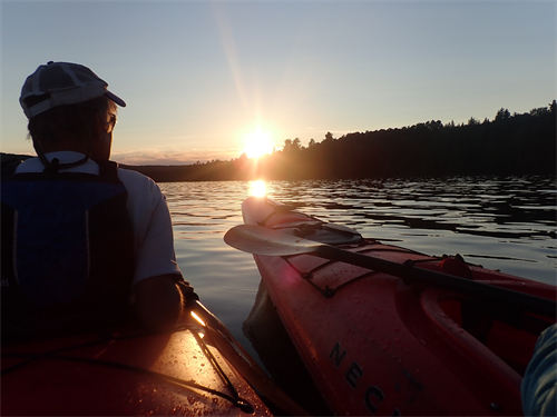 Sunset paddle, Rangeley Lake