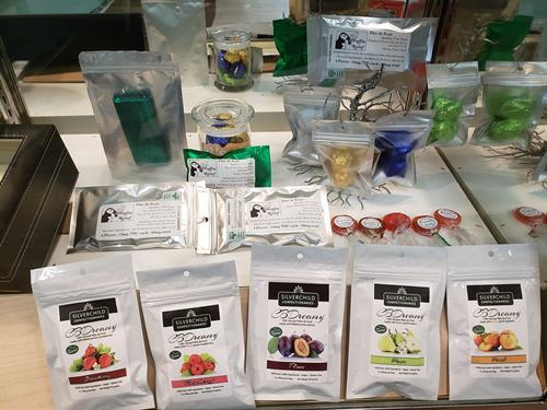 Edible products CBD and THC.