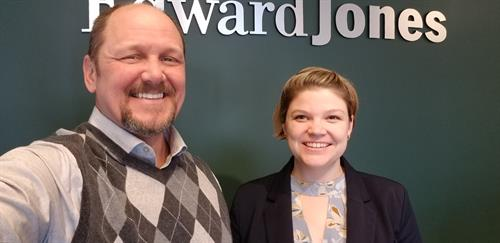 Your Branch Team: Tom Griffith, Financial Advisor and Breanna Pinkham Bebb, Branch Office Administrator