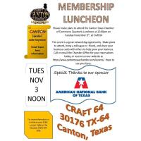 Quarterly Luncheon November 2020