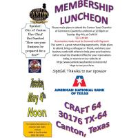 2021 2nd Quarterly Luncheon - Sponsored By American National Bank