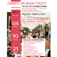 2021 Dinner on Main Street - Taste of Downtown