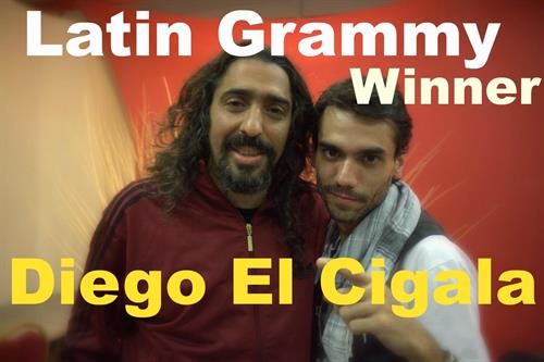 Interview with latin grammy winner Diego El Cigala from Spain. Shooting in Argentina.