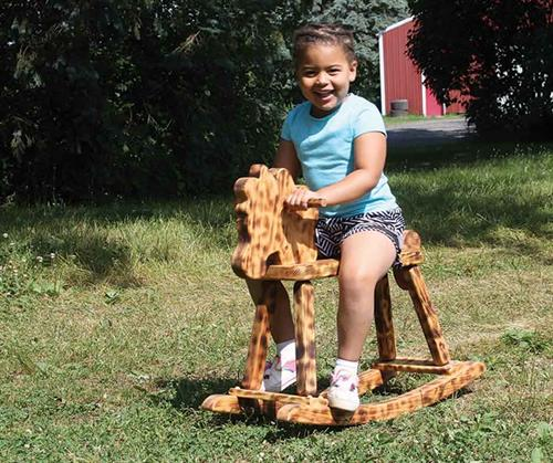 Classic Wooden Rocking Horse