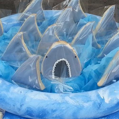 Shark Week cookies!
