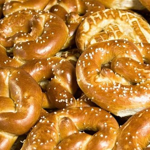 Every Saturday, hot out of the oven pretzels :)