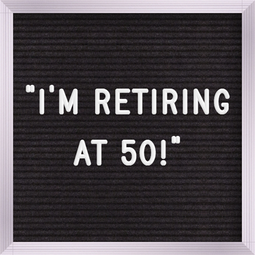 """""""Retirement is a number, not an age."""" -Chris Hogan"""