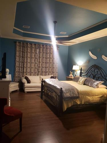 Repainted bedroom (Blue Room)