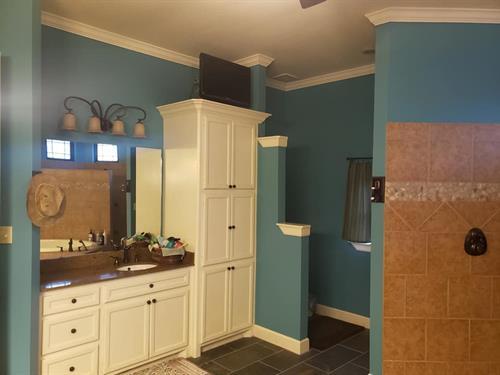 Repainted Bathroom (Blue Room)