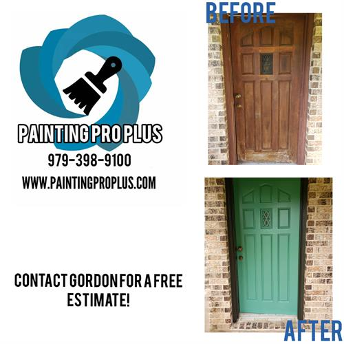 Before and After Painted Door