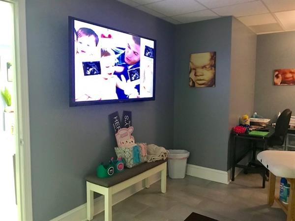 Ultrasound Tv in room for family viewing