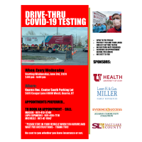 Drive-Thru COVID-19 Testing Sponsored by Evidence2Success Kearns Community Coalition