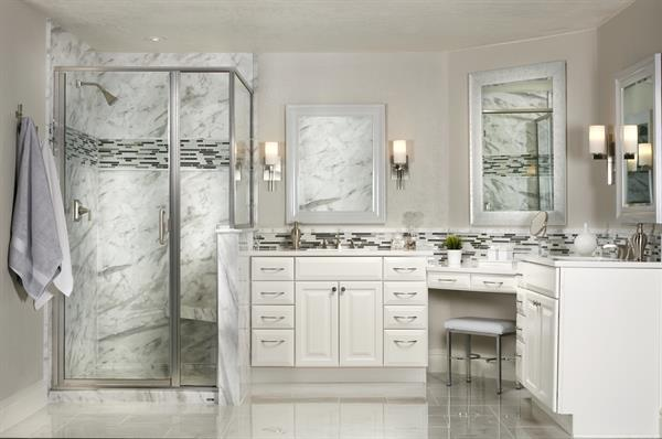 Shower Surround Natural Stone - Carrara Marble