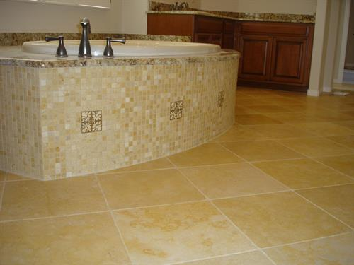 Master Bathroom Tub Mosaic Tile