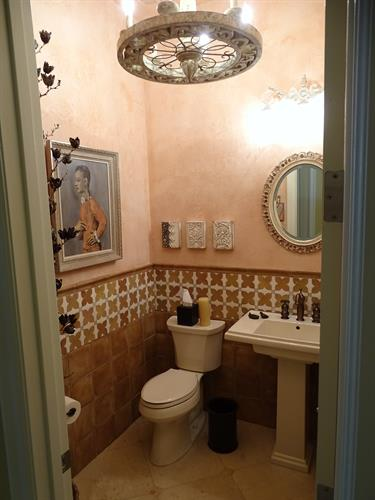 Powder Room Tile Installation
