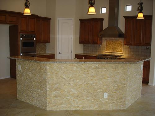 Kitchen Island Stone Tile