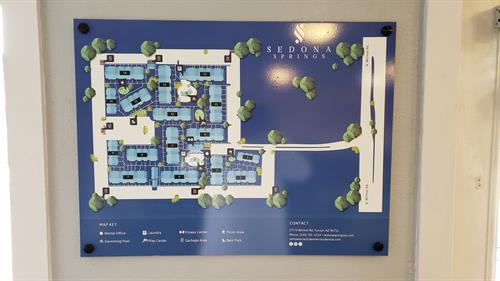 Maps of Apartment complexes