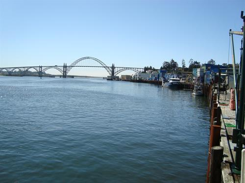 Yaquina Bay nearby