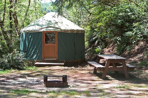 Our yurts sleep 2-5 people.