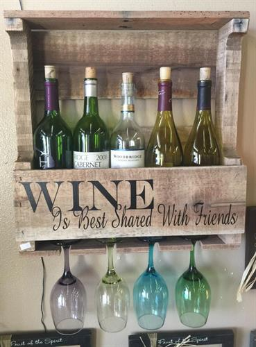 We carry locally made wine racks