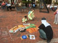 ChalkFest at Reston Town Center 2017, professional artist Ben Morse at work!