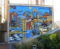 """Community Mural"" by Dana Ann Scheurer in Reston Town Center"