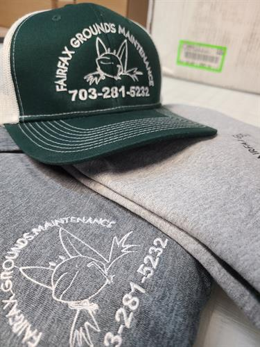 get your hats and apparels embroidery and screen prints here!