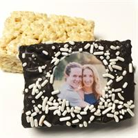 Personalized Chocolate Covered Rice Krispies Treats
