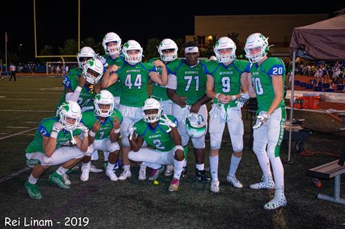 2019 Varsity Football post-game shot photo: Dion Seneca