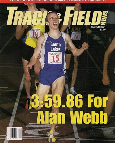 Allen Webb NYC recod setting run photo: Track and Field