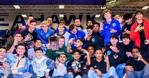 2019 Boys Soccer State Champions photo: Athletics Dept