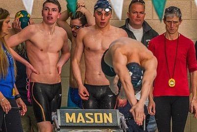 2020 Boys Swim Realy photo: McCrea
