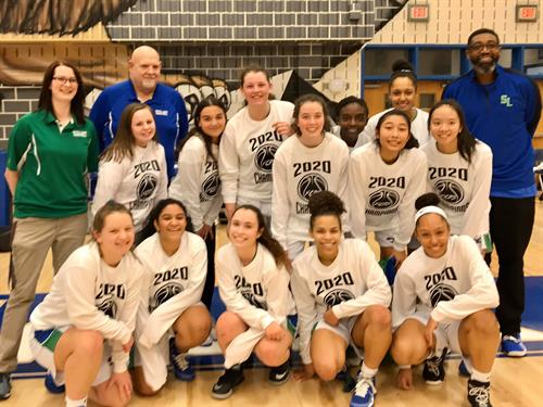 Girls JV Basketball FCPS Tournament Champs 2020 w/T-shirt photo: Boosters