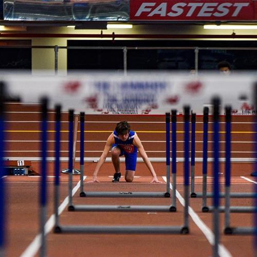 Indoor Track Hurdles 2020  photo: Yearbook