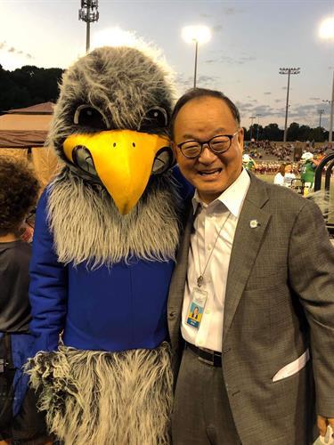 2019 Oaton Game Seymour and FCPS School Board Member photo: Aaron Diamond