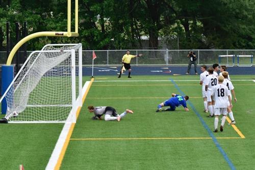 2019 State Championship Boys Soccer GOAL!  photo: S. Stassinos