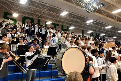 Pep Band and another White out photo: M. Erler
