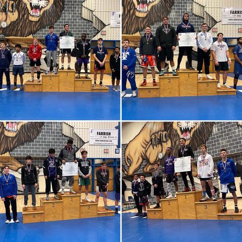 2019-20 Wrestling tops the podium photo: Wrestling