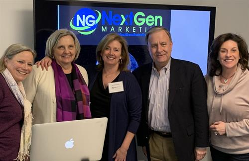 "Can always count on fellow Chamber Members to help with the ""after party""! (From the NextGen Marketing Lunch + Learn - Email  Marketing Trends for 2019)"