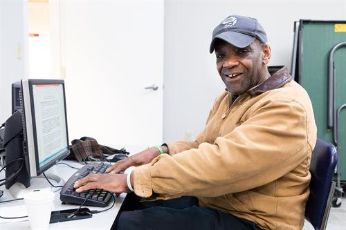 Computer training is taught by individuals in the community who share their skills to advance others.