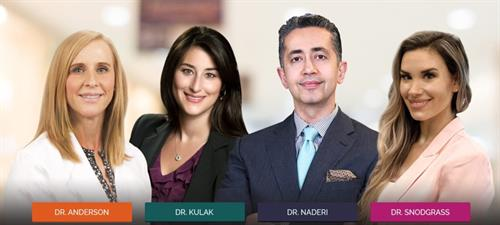 The ultra specialized and Board Certified physicians of the Naderi Center.